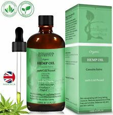 Hemp Seed Oil Organic Cold Pressed Pure Natural High Quality Made in UK 100ml
