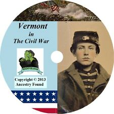 Vermont Civil War Books History & Genealogy - Ancestry - Family Tree - 26 Books