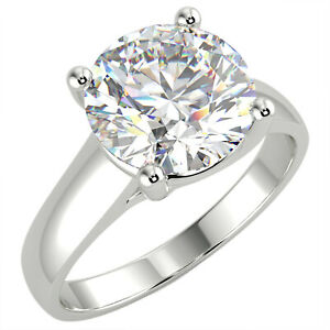 2.01 Ct Round Cut VS1/E Solitaire Diamond Engagement Ring 14K White Gold