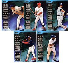 2001 TOPPS BASEBALL RING MASTERS 5 CARDS RIVERA JETER MCGWIRE SHEFFIELD ALOMAR