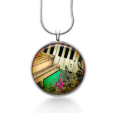 Piano Music Necklace - Sheet Music Jewelry - Pendant