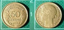 50 Centimes Morlon 1939, France, Bronze-Aluminium, Pièce de Monnaie