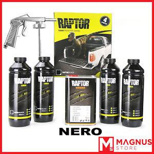 U-Pol Raptor Kit Vernice Protettiva bedliner 4L+ Pistola - NERO