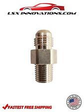"""-6AN Male Flare to 1/4""""NPT Pipe Adapter Fitting 6 AN Bare Aluminum Made in USA"""
