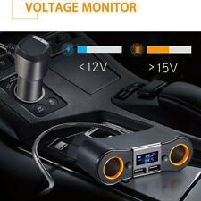 Car 12V Cigarette Socket Lighter Splitter Charger Power Adapter Dual! USB Ports