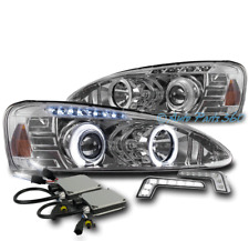 04-08 PONTIAC GRAND PRIX HALO LED PROJECTOR HEADLIGHT CHROME W/DRL SIGNAL+6K HID