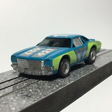 Aurora AFX Chevelle Stock Car, Blue/Lime #17, HTF Color, AFX Magna-Traction