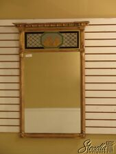 28621E: Federal Style Vintage Gold Framed Mirror w. Reverse Panel