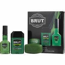 Brut By Faberge After Shave Cologne Spray 3 Oz & Deodorant 2.25 Oz & Soap 3.5 Oz