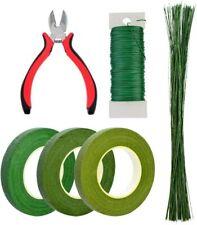 """6 Pcs Floral Arrangement Tool Kit 4.7"""" Wire Cutter 3 Rolls Floriculture Paper"""