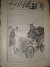 Father Time welcomes the new Sketch girl 1902 print ref Z
