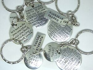 Inspiring Life Quotes Keyring - Bag charm Gift Happiness Belief Hope Positivity