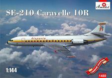 Amodel 1480 Sud Aviation SE-210 Caravelle 10R plastic model kit 1/144