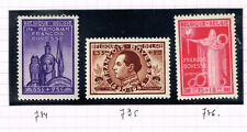 Belgium Famous Politician Fancois Bovesse Memorial set 1946 MNH CV$15