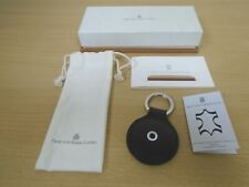 Graf von Faber-Castell Round Black Leather Key Fob with Box