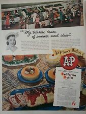 1948 A&P Supermarket California Buffet Montery Meat Roll Recipe Original Ad