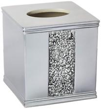 Bathroom Tissue Boutique Box Cover Bath Sink Accessories Sinatra Silver Holder
