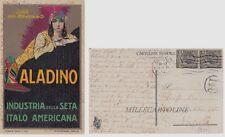 Illustratori: MAUZAN - Pubblicitaria Aladino industria seta italo-americana  ...