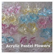 48 Cute Acrylic Flower Beads 22mm 18mm 12mm Craft Jewelry Beads
