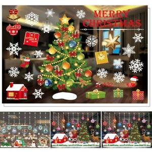 Christmas Xmas Snowflake Removable Window Stickers Art Decals Wall Home Shop