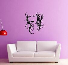 Wall Stickers Vinyl Decal Beautiful Woman Beauty Shop Hairstyle (ig725)
