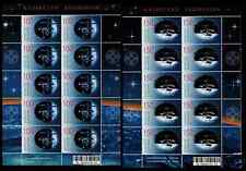 "2008. Kazakhstan. Space. Orbital station ""Mir"". Sheets/Panes.MNH. Sc.573-574"