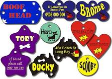 3 tags for your dogs and cats, colour, printed metal tags, pets id, with rings