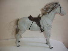 M & C GRAY HORSE BENT KNEES SADDLE NECK HIND LEGS MOVE fits AMERICAN GIRL DOLL