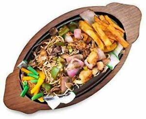 Sheesham Wood iron Platter Sizzler Tray  (Sizzler Tray)