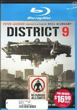 District 9 (Blu-ray, 2009) TriStar Pictures Scfi Action Thriller
