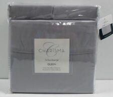 Charisma 6 piece KING Microfiber (Grey) Pillows and Bed Sheets Set Brushed - NEW