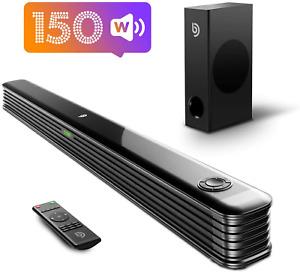 TV Soundbar with Wireless Subwoofer 2.1 CH 150W Bluetooth Outdoor Surround Sound