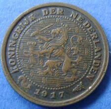Nederland - The Netherlands 1917 halve cent, 1/2 cent, KM# 138