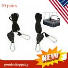 10 pair Heavy Duty Rope Ratchet Adjustable Hanger Light Reflector Max 150LBS/pai picture