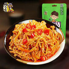 Chinese Food Snacks HaoBaShi Spicy Needle Mushroom 258g*1bag 好巴食 香辣金针菇零食小吃四川特产