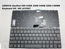 LAPTOP KEYBOARD UK LAYOUT FOR LENOVO IDEAPAD 320-14ISK  NO FRAME BLACK/DARK GRAY