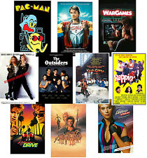 80's Party Posters Pac-Man Teen Wolf Rappin' Krush Groove Billie Jean Outsiders