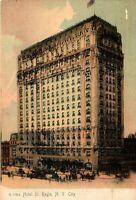 1912 Posted Hotel St. Regis New York City NY Vintage Illustrated Print Postcard