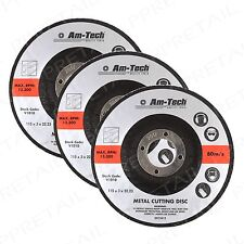 3x 115mm Quality Metal Cutting Discs +HEAVY DUTY+ Depressed Centre Angle Grinder