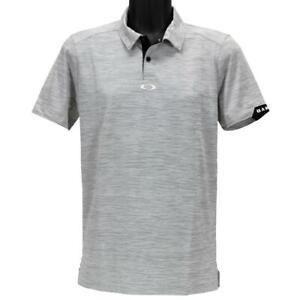 Oakley Gravity Polo Mens M Medium Blackout Regular Fit Casual Golf Tee Shirt