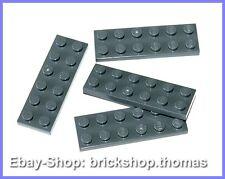 Lego 4 x Platte (2 x 6) grau - 3795 - Plate Dark Bluish Gray - NEU / NEW