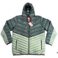 Nike Sportswear Men's Cascade 550 Down Full Zip Iron Green Hood Jacket Size 2XLT
