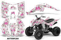 Yamaha Raptor 350 graphics custom racing ATV sticker kit #9500 Purple Zombie