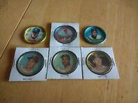 Assorted lot of 6 topps baseball coins. Culp 35, Davis 57, Romano 9, Yount 50.