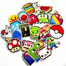 25Pcs/lot Cartoon Pixel Style Sticker For Car Laptop Luggage Skateboard LJ