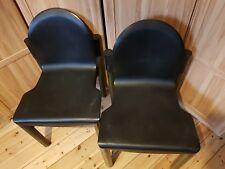 TOP: 2 Thonet Stühle dunkelgrün, gebraucht. Design Gerd Lange