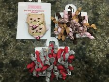 New listing Lot Set Gymboree Accessories Hair Barrettes Clips Kitty Cat Smart Girl girls New