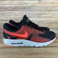Nike Men Air Max Zero Essential Black Bright Crimson Red 876070 007 -SIZE 11 NEW