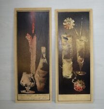 2pcs Vintage Collectible Abstract Hand Painted Paintings Candle Bottle Cocktail