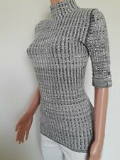 Style co Women Sweater NEW Size XS L XL  Striped Knitted Jersey High neck W3